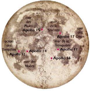 Missions Apollo et calendrier lunaire Carte